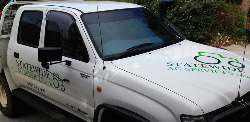 Fleet Signage for Statewide Ag Services by WrapCraft Hobart