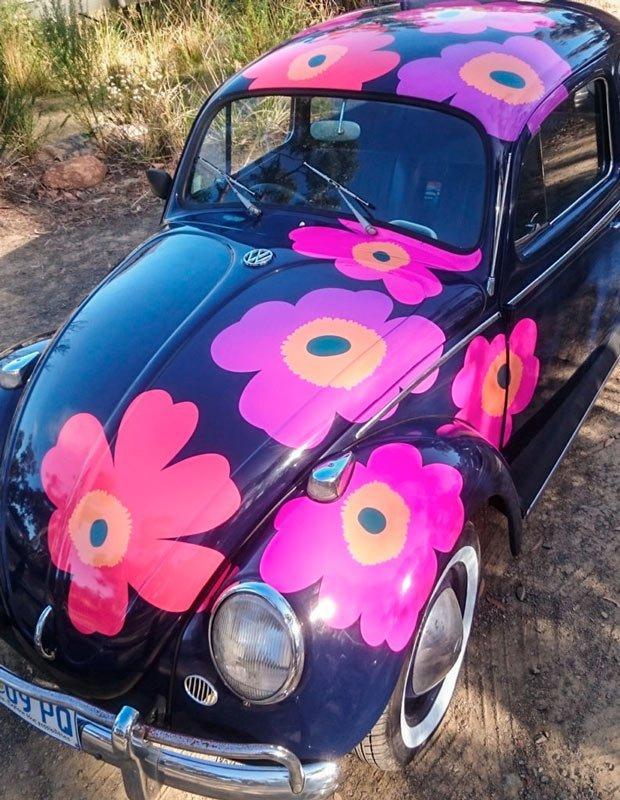 VW Beetle Flower Graphics Hobart