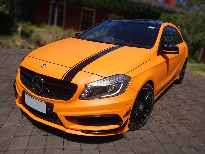 Colour Change Car Wrap Matt Orange