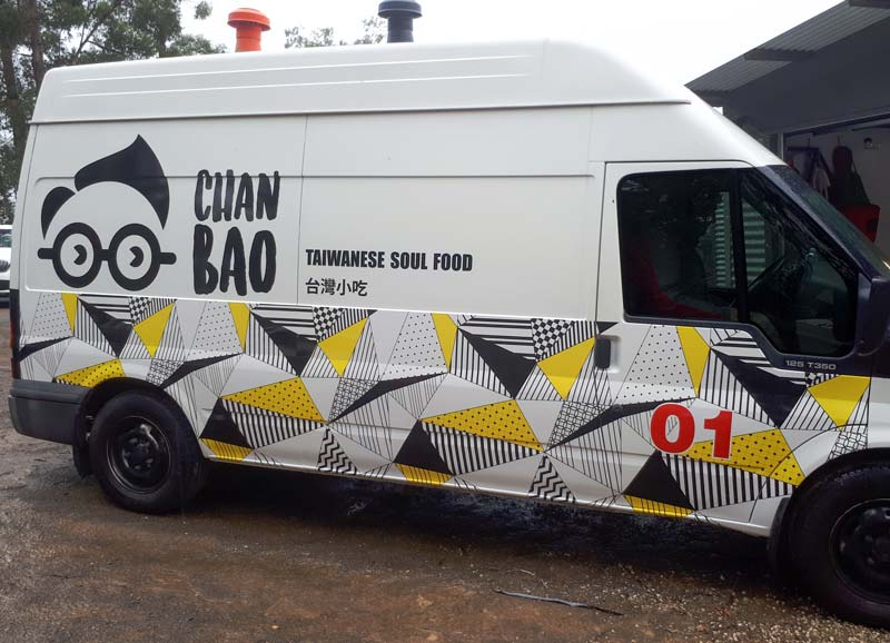 Food Truck Partial Wrap Hobart Chan Bao