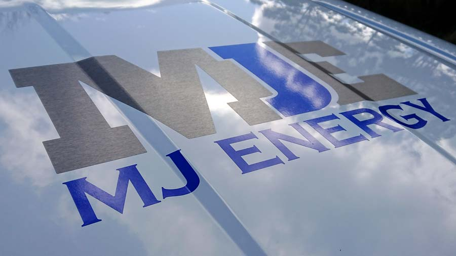 MJ Energy brushed titanium logo graphics on bonnet